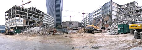 Abriss Universitätscampus Leipzig zu Ostern 2007, kleines Panoramabild (c)