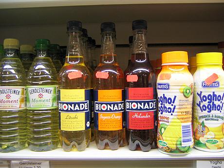 Bionade in der Plastikflasche