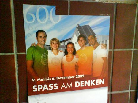 Spaß am Denken - Uni Leipzig - Plakat