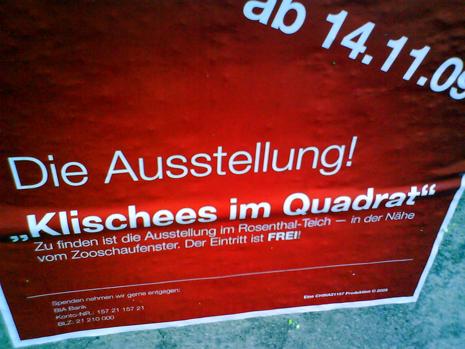Klischees im Quadrat Leipzig Plakat