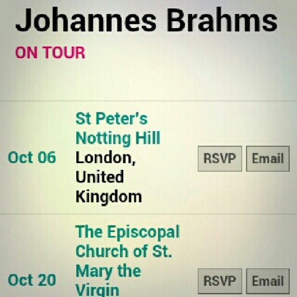 Photo: On tour last year, and I missed him. Let's hope there will be a new album soon. #Brahms