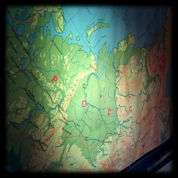 Photo: Endlich #Russland-Karte aufgehängt.