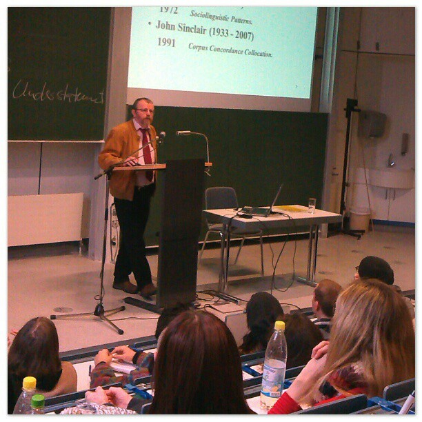 Photo: #Abschiedsvorlesung  Prof. Michael #Stubbs. #Trier