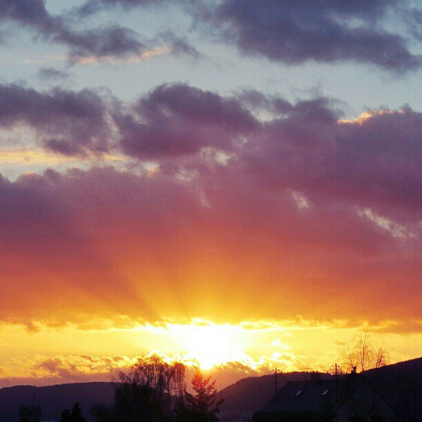 Photo: #Sunset over #Trier today.