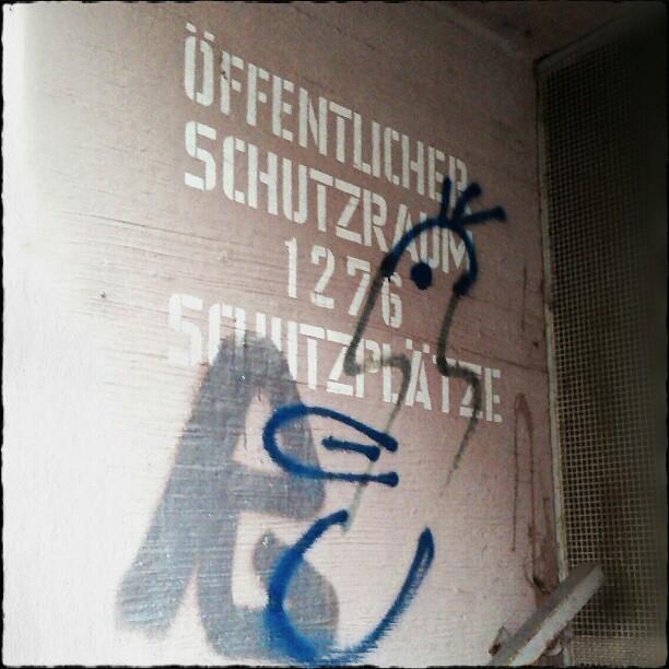 Photo: Öffentlicher #Schutzraum im #Lindenhof, #Mannheim.