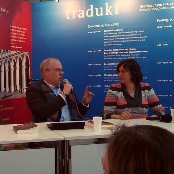 Photo: Marek #Krajewski und Alida #Bremer. #lbm13