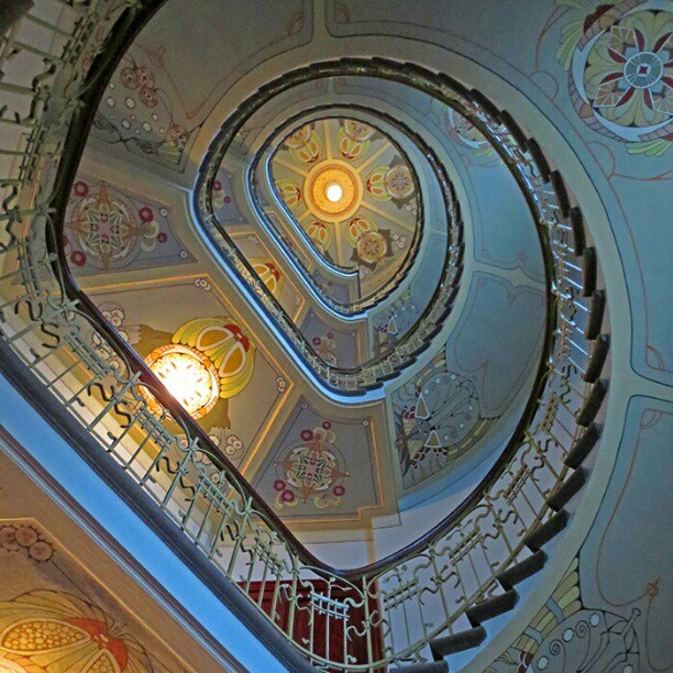 Photo: #Jugendstil  #stairwell in #Riga. #Art  #Nouveau  #Latvia #architecture