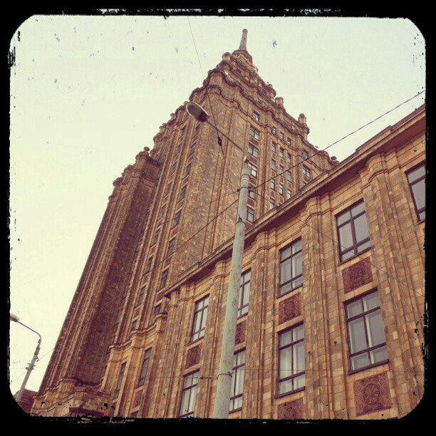 Photo: #academy of #sciences in #Riga.