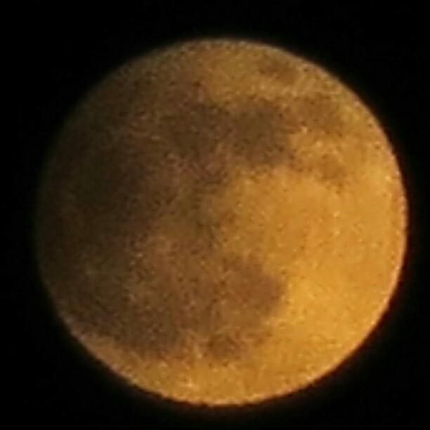 Photo: Bisher alles ruhig. Wann soll das Spektakel beginnen? #Mond