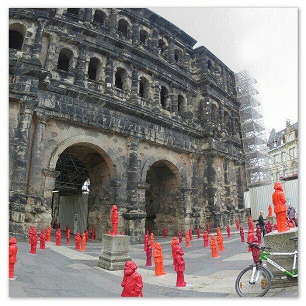 Photo: #Marx #sculptures at #Porta #Nigra #Trier.