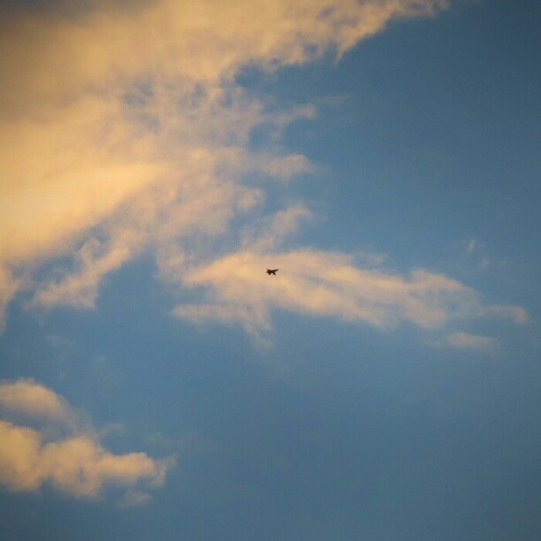 Photo: Fighter #jet spoiling the  #sunset mood over #Trier yesterday.