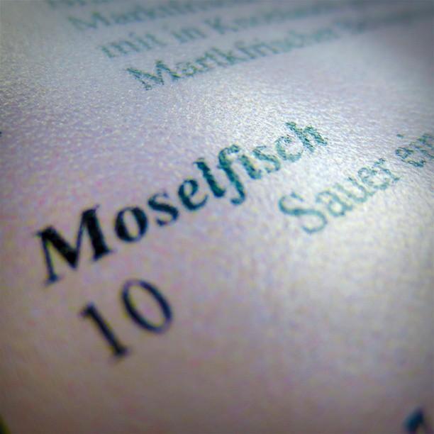 Photo: Für ganz Mutige: Moselfisch. #Mosel #Trier #Longuich #Fisch