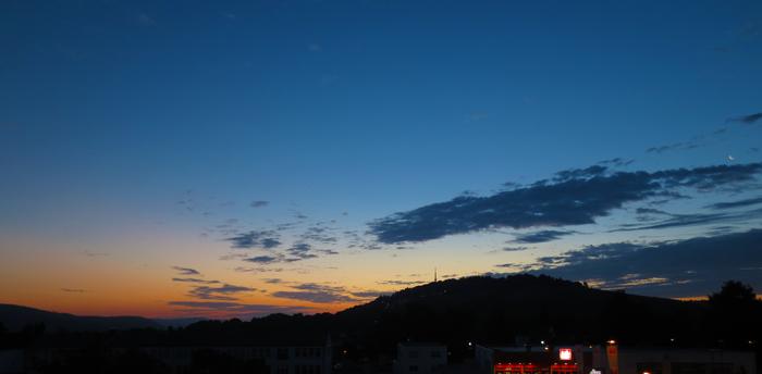 Trier Petrisberg im Sonnenaufgang