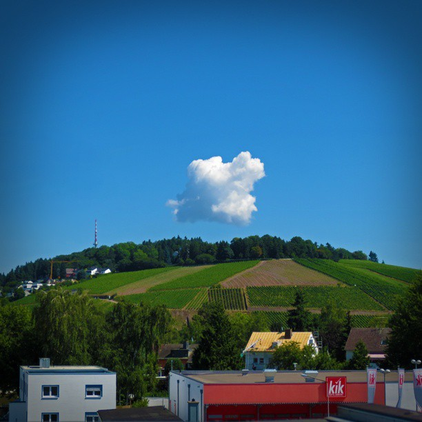 Photo: #Petrisberg in #Trier this #morning . #Cloud #sky