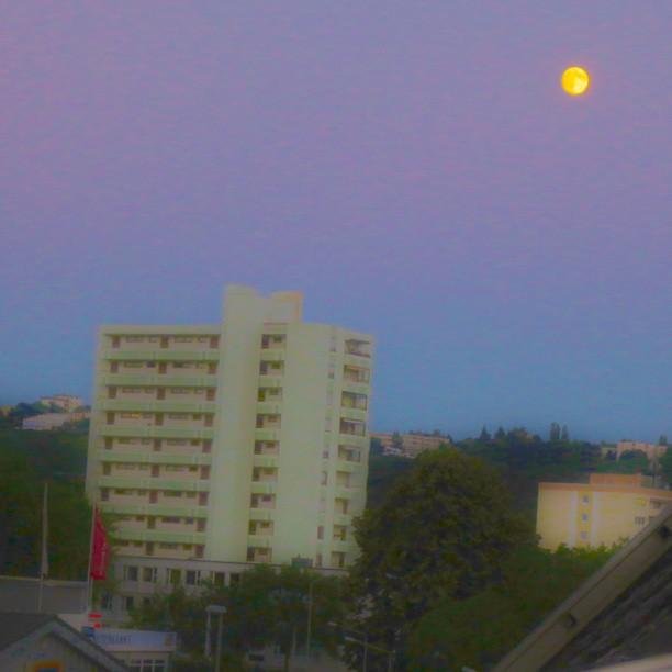 Photo: #dreamy #moon over #Trier  #Heiligkreuz #blurry #HDI