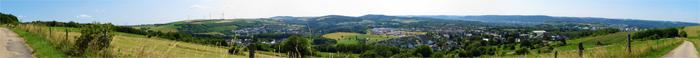 Panorama: Blick vom Schellberg auf Trier