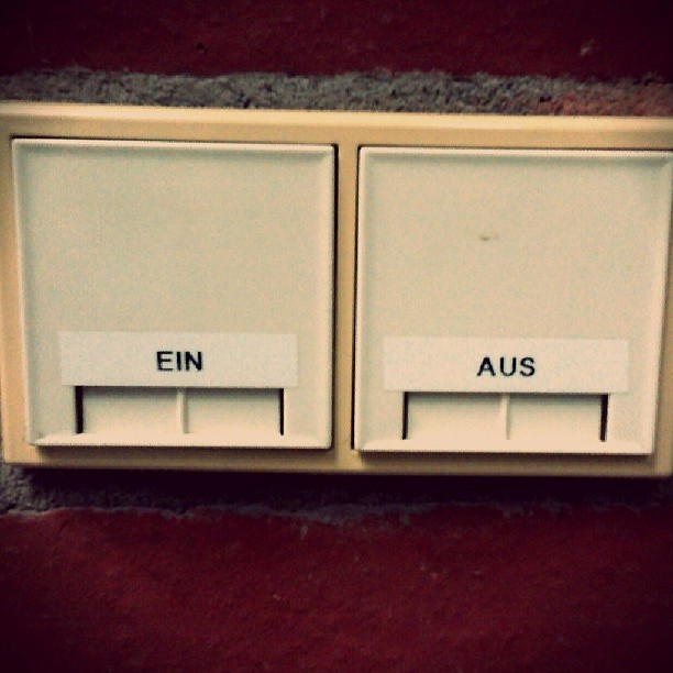 Photo: #On and #off #light #switches @ #uni #Trier #efficient