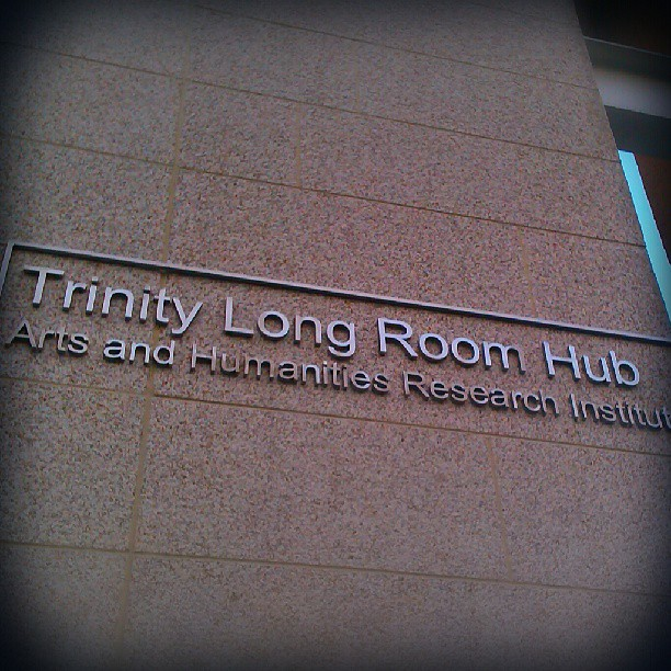 Photo: Wonderful workshop today in this amazing venue. #Trinity #Dublin #long #room #hub #Barthes #Foucault #digital #Writing #literature