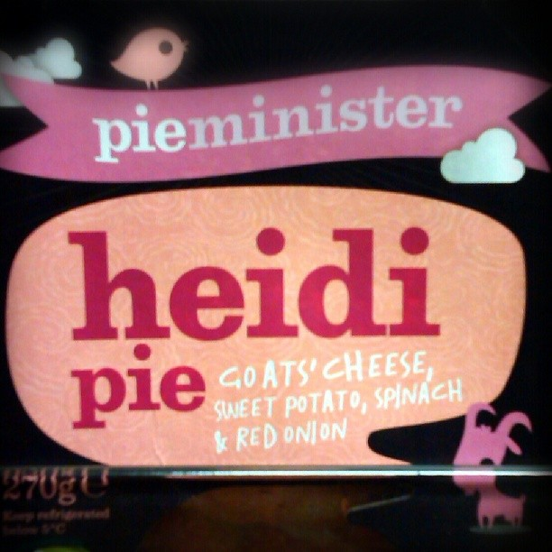 Photo: A glance at the list of ingredients reveals the scandal: not a trace of minced #Heidi inside. #pie #Dublin