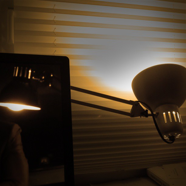 Photo: Chance meeting of my Ikea lamp and a #fictional #Ikea #lamp on #screen. #fiction #reality