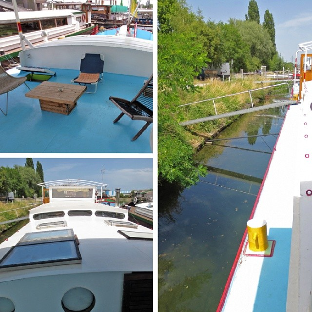 Photo: On a #boat 2. The #houseboat in #Strassbourg. Nice.
