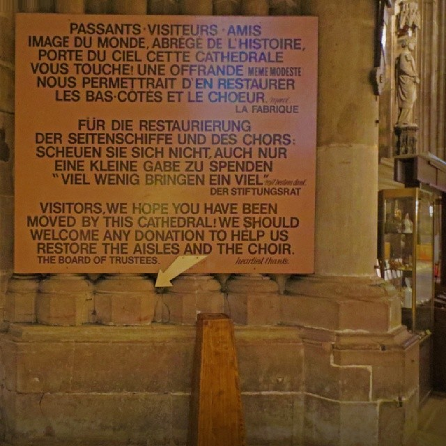 Photo: Unfortunately, I couldn't find the offertory box... #Strasbourg #cathedral #church #money #misplaced #France
