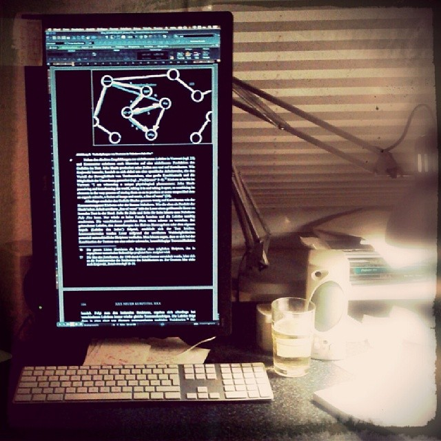Photo: Textredaktion old-school-style. Nur so gibt dass Menüband von Word Sinn.