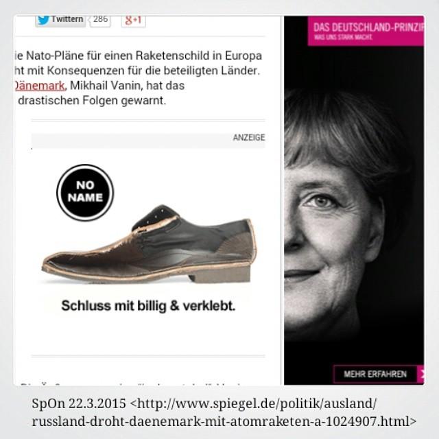 Photo: Angela #Merkel - Schluss mit #billig und #verklebt. #Spiegel #Werbung #Spon #ad