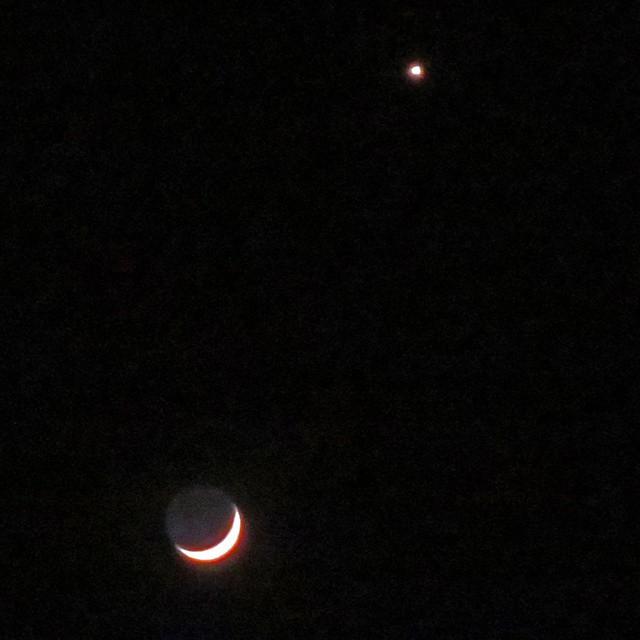 Photo: #moon #star #sky