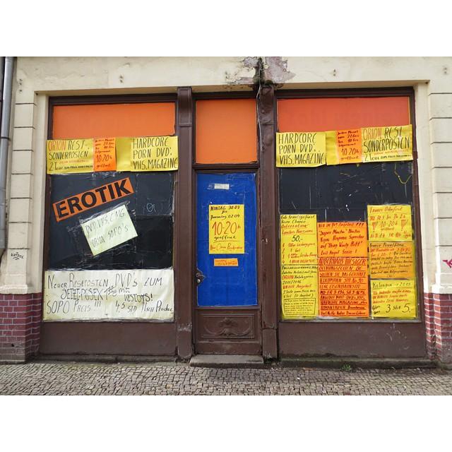 Photo: #Erotic #DVD #Store in #Leipzig. #Lindenau #shop #window