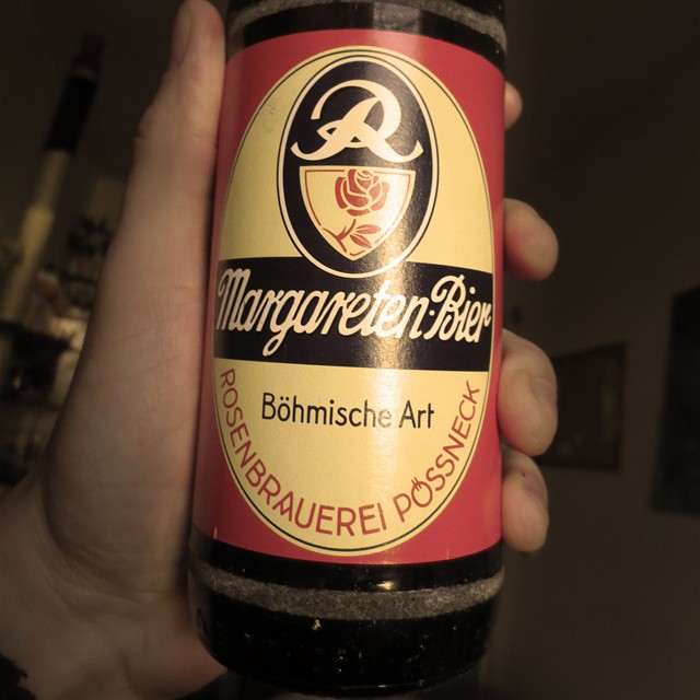 Photo: Margareten-#Bier from #Pößneck, my birthplace. #beer #Thüringen #retro