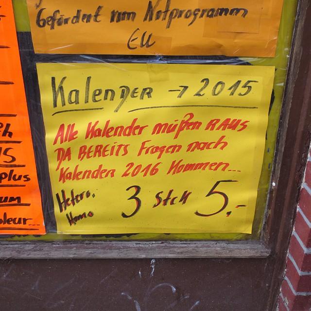 Photo: #Erotic #DVD #Store in #Leipzig. #Lindenau #shop #window #calendar #EU #Europe