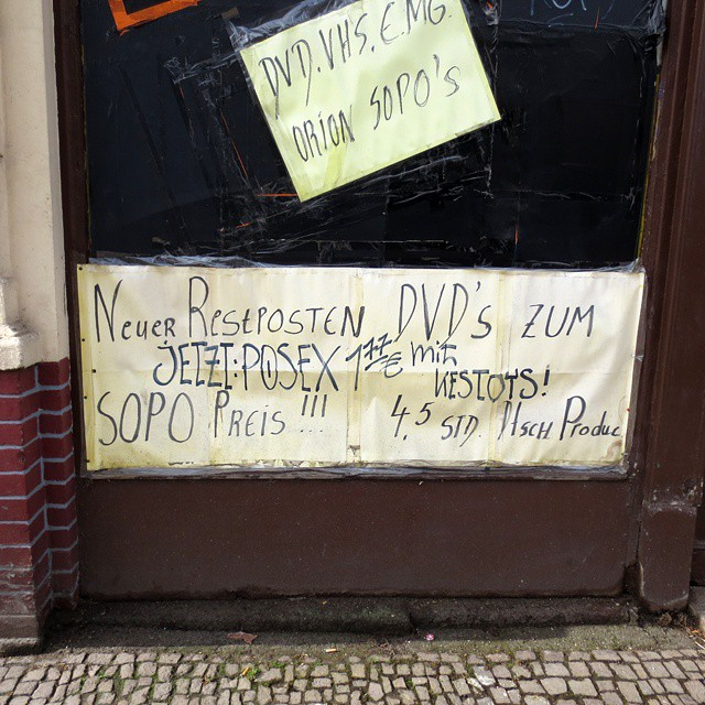 Photo: #Erotic #DVD #Store in #Leipzig. #Lindenau #shop #window #posex #anal