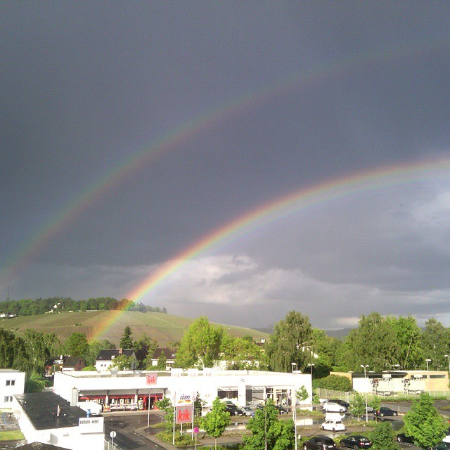 Photo: Wow. #Double #rainbow all the way over #Petrisberg, #Trier. #regenbogen