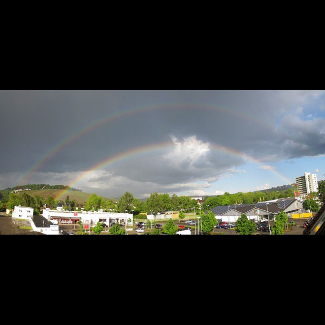 Photo: Today's #double #rainbow over #Trier. #alltheway#color#Germany