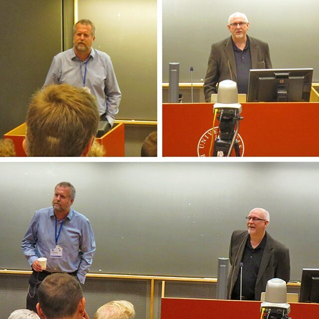 Photo: Opening keynote of Espen #Aarseth and Stuart #Moulthrop at #ELO2015. #Bergen #Norway