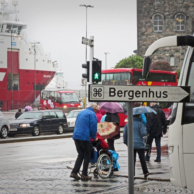 Photo: The #looped #square symbol in use in #Bergen, #Norway. #mac #placeofinterest