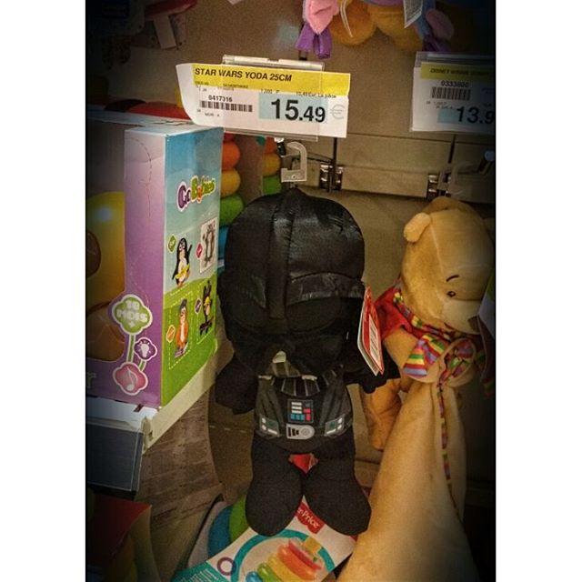 Photo: Plush Yoda? Seriously? #starwars