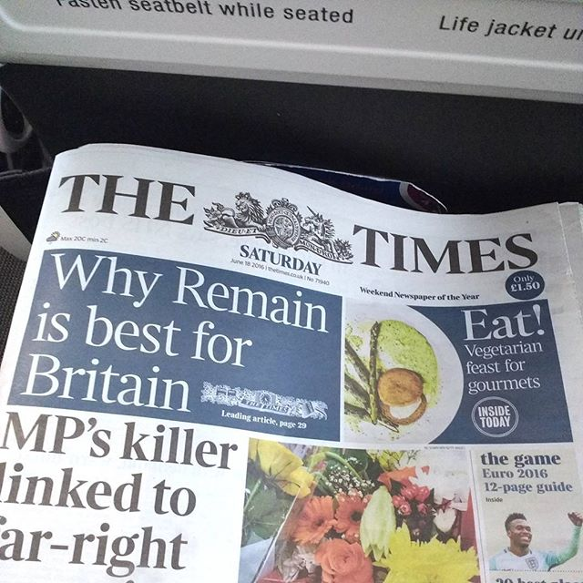 Photo: They even provided newspapers which I could not read after a 30 hrs journey. I s'pose the Brits hadn't read them either.