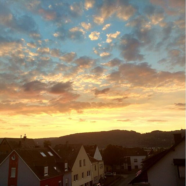 Photo: Nice #sunset over #Trier at the moment. #heiligkreuz