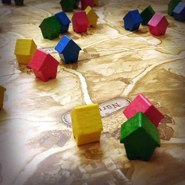 Photo: Board game night. Yellow eins wins. :-) #ThurnundTaxis