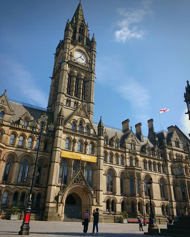 Photo: #Manchester #townhall: Manchester Together. #manchestertownhall #albertsquare #england #manchestertogether