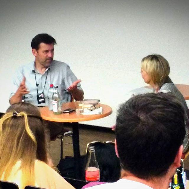Photo: Peter Stamm im Gespräch mit Caroline Roeder @ PH #Ludwigsburg. #PHL #UEL #peterstamm #agnes #phludwigsburg #literatur #literaturcafe