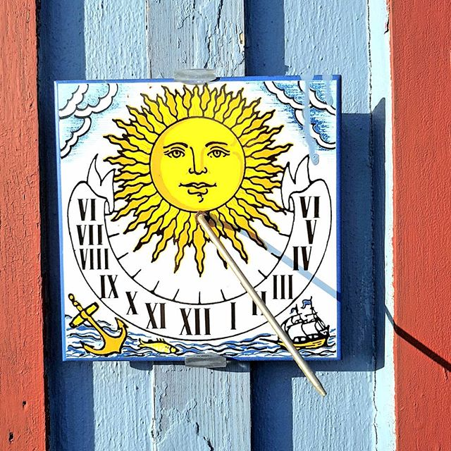Photo: #Sundial in my parents' #allotment. #summer #garden #allotmentlife