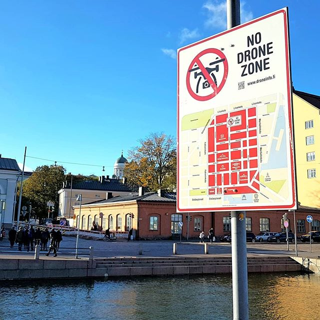 Photo: No #drone zone in #Helsinki. #sign #drones