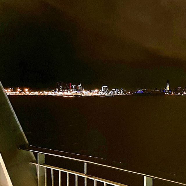 Photo: #Tallinn as seen from the #ferry from #Helsinki. #night #lights #estonia