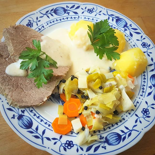Photo: My first #Tafelspitz. #veal #beef #horseradish #leek #potatoes #food #homecooking #foodphotography