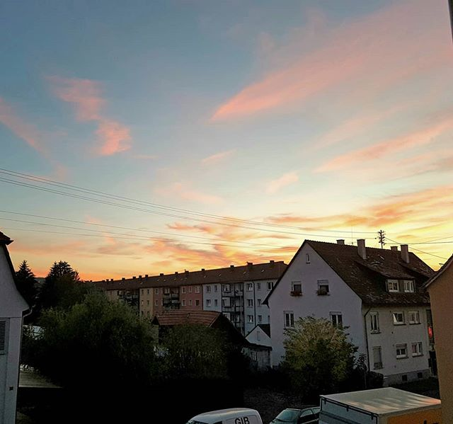 Photo: Back in #Ludwigsburg: another nice #sunset. There are hardly any stars to be seen after it, though. #lightpollution #stuttgart