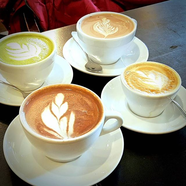 Photo: Three drinks at @latorrefazione, #Helsinki. #coffee