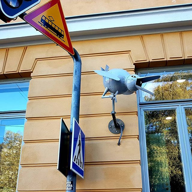 Photo: #CCTV #bird in #Helsinki.